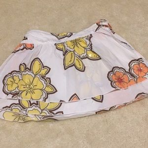 Flowered girls skirt